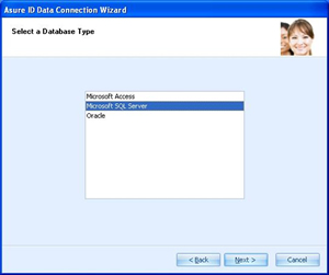 The Next Screenshot Is Wizard Asking What Type Of Custom Database Asure 2009 Will Be Connected To